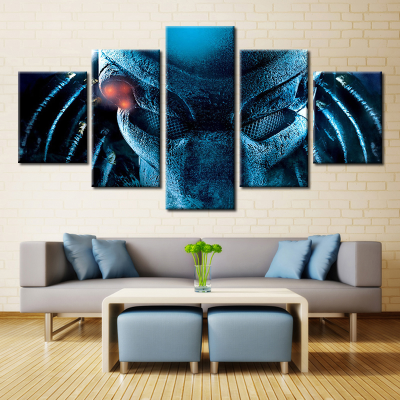 Forbeauty 5 Piece Canvas Painting Predator (Ultimate <font><b>Hunter</b></font> Edition) [<font><b>Blu-ray</b></font>] (1987) For Home Sofa