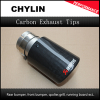 Free Shipping 2017 NEW Glossy Akrapovic Exhaust Car Carbon Exhaust Tip Car Styling Muffler Tip Carbon