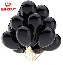 10Pcs 12inch 2.8g Black Latex Balloon Inflatable Air Balls Wedding Decoration Birthday Party Float Balloons Supplies Toys