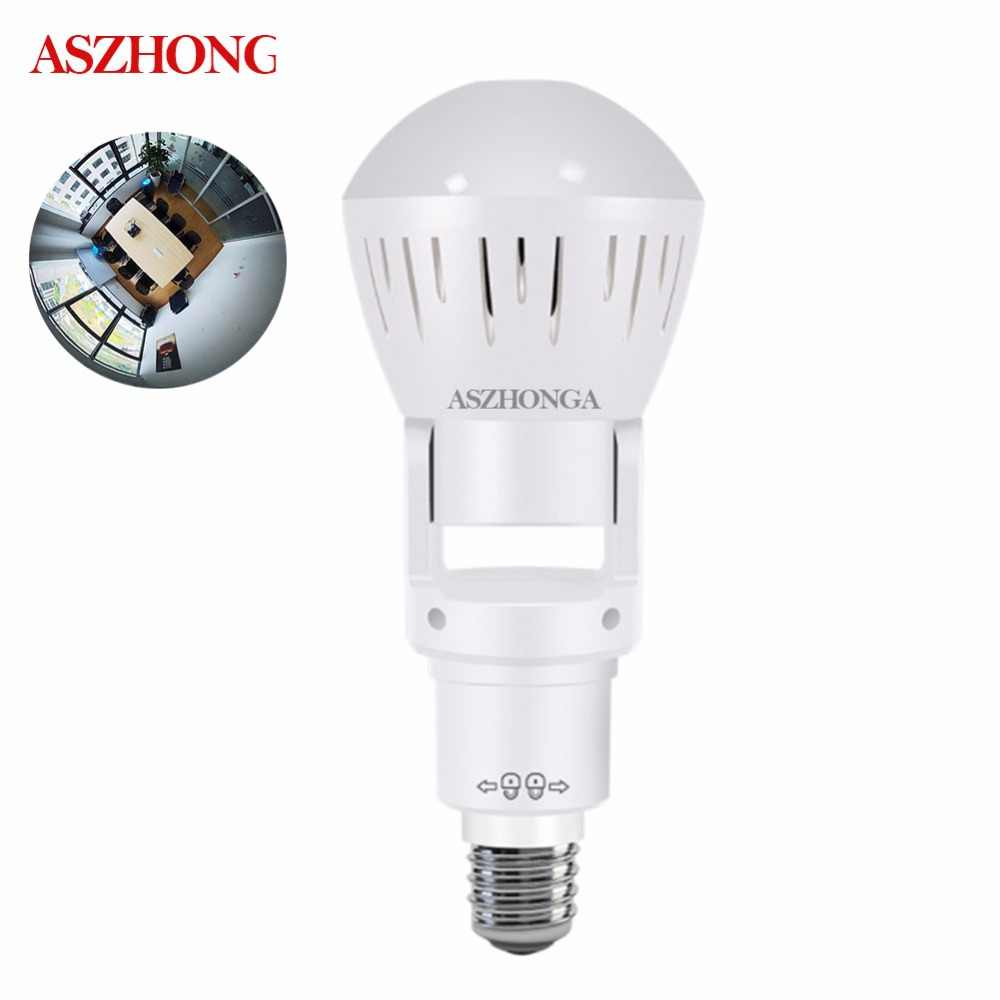 960P HD 1.3MP 360 degree Panoramic Bulb Infrared and White Light Wireless IP Camera Wi-FI FishEye Mini Lamp CCTV Home Security