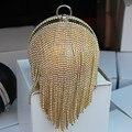 Recomendar Estilo Rodada Bola Borla das Mulheres Sacos de Noite De Diamantes rodada imitação de pérolas da noite saco de strass dia embreagens