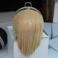 Recommend Style Women's Round Ball Tassel Diamond  Evening Bags round imitation pearl evening bag rhinestones day clutches