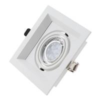 2 pçs/lote LEVOU Recesso Downlight Teto 105 milímetros Buraco Cortado Spot Lâmpada Montagem de Quadro Branco Bulbo Substituível MR16 GU5.3/GU10 Soquetes|Refletores| |  -