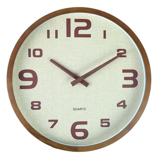 12-Inch Nordic Simple Soild Wooden Silent Wall Clocks For Home Decor New Arrival Hanging Clock Home Decoration