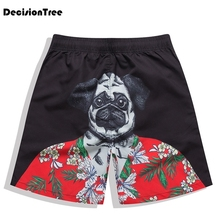 2019 summer men shorts pineapple compression male cargo short trousers print loose