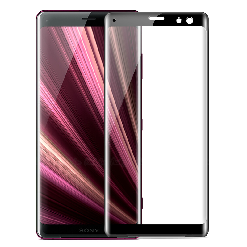 Screen Protector Film 100 PCS for Sony Xperia XZ2 0.3mm 9H Surface Hardness 3D Explosion-Proof Tempered Glass Screen Film Tempered Glass Film