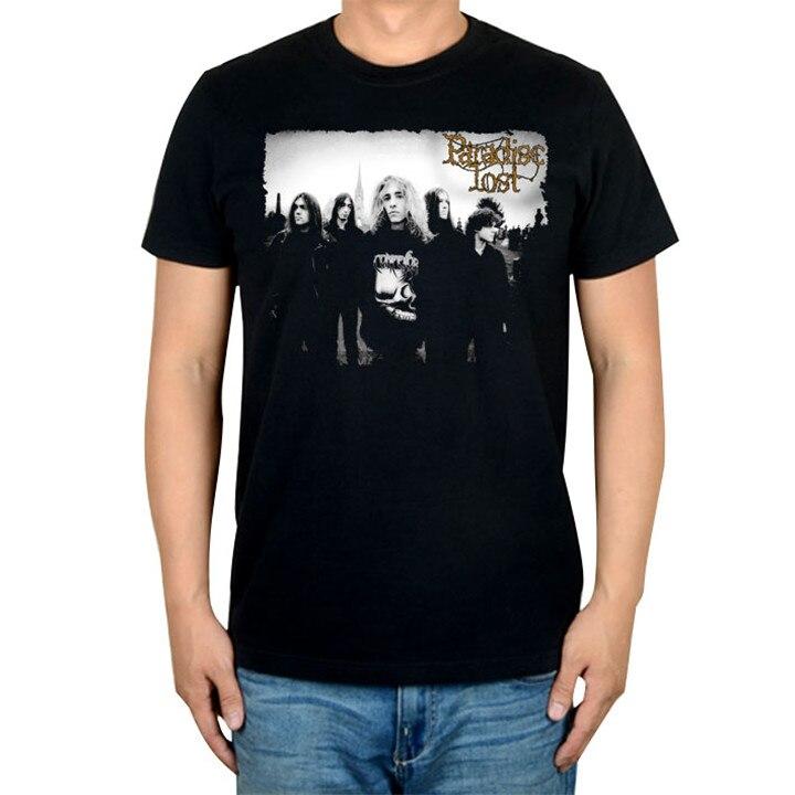 14 видов иллюстрации Райский Lost Rock брендовая футболка панк готический Металл черные рубашки уличная Harajuku искусство картины camiseta - Цвет: 14