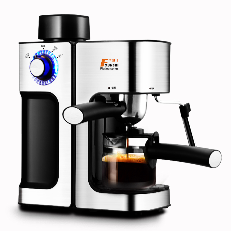 FXUNSHI MD-2006 Italian style Coffee machine Household Commercial Semi-automatic Steam type Playing milk foam Free shipping