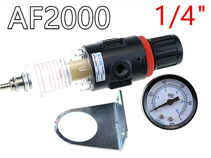 AFR-2000 Luftfilter Regler Kompressor & Druck reduzierung ventil & Öl wasser trennung + Gauge Outfit AFR2000