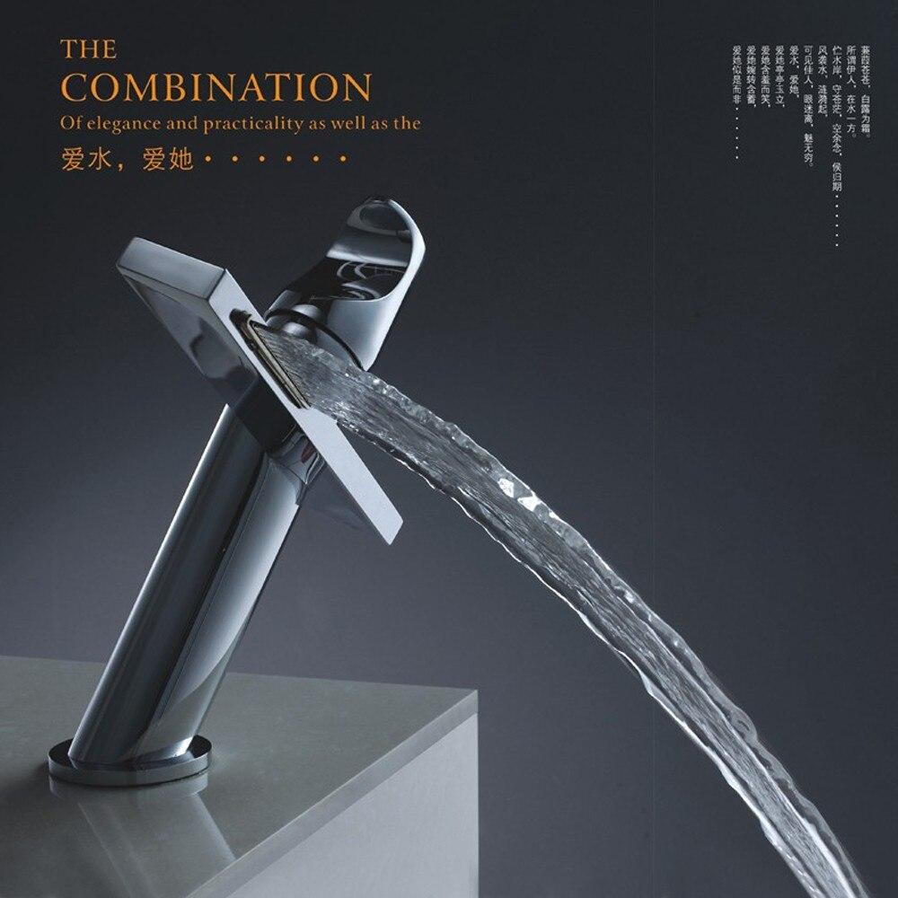 Бакала современные умывальник дизайн Ванная комната смеситель водопад краны горячей и холодной воды для бассейна Ванная комната BR-10004A