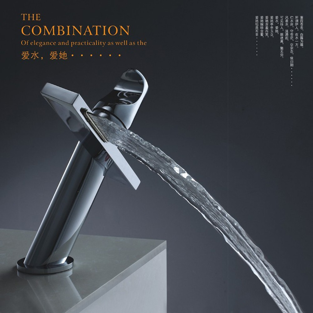 BAKALA Modern Washbasin Design Bathroom Faucet Mixer Waterfall Hot and Cold Water Taps for Basin of Bathroom BR-10004A