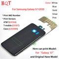 Оригинальный S7 Жилья Для Samsung Galaxy S7 G930 Вернуться Корпус крышка Батарейного Отсека Чехол Крышка Стекло Корпус С Напечатать IMEI