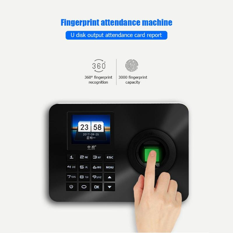 ZK-TA10 Fingerprint Password Recognition Time Attendance Machine Access Control System Checking-in Recorder Time Recording