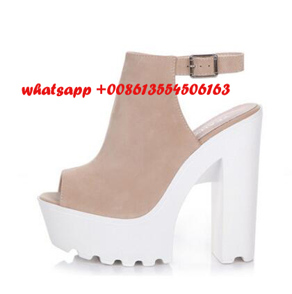 New fashion cheap price peep toe high heel shoes platform thick ...