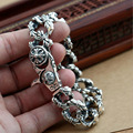 2016 Hot Sale Vintage retro Cross stitching domineering chain 925 sterling silver bracelet bangle men and women 925 jewelry GB01