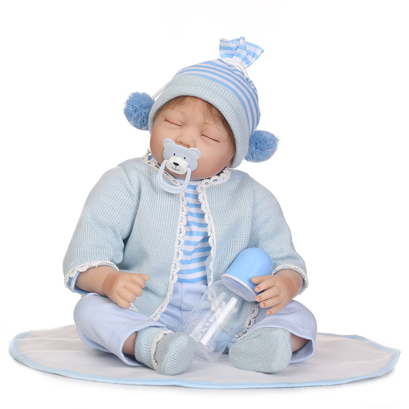 55CM Jointed Reborn Doll Lifelike Kids Baby Dolls for Infant Playmate Christmas Birthday Gift M09 55cm vinyl jointed reborn doll lifelike kids baby dolls for infant playmate christmas gift m09