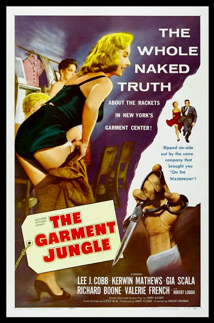 The Garment Jungle Beauty Classic Movie Film Noir Retro Vintage Poster Canvas Painting DIY Wall Paper Home Decor Gift image