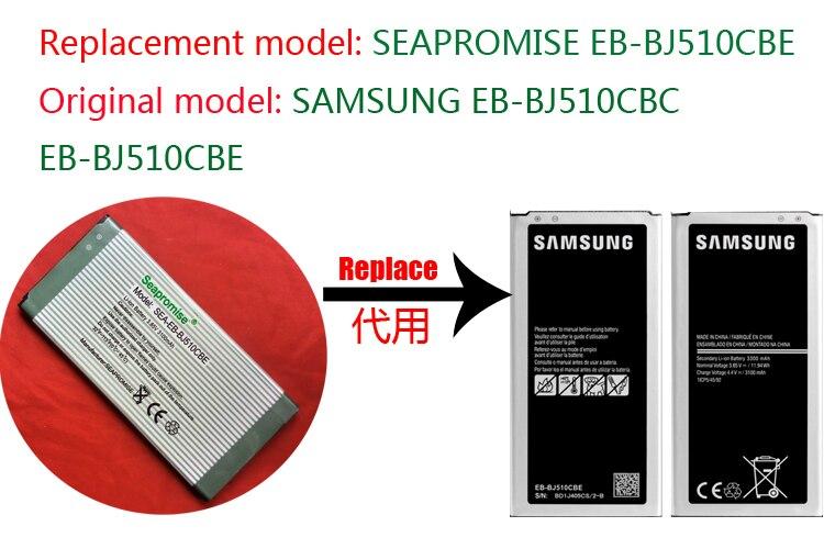 Freeshipping retail bateria EB-BJ510CBC EB-BJ510CBE para Galaxy J5 2016, SM-J5108, SM-J5109, SM-J510F, SM-J510F/DS, SM-J510FN, SM-J510S