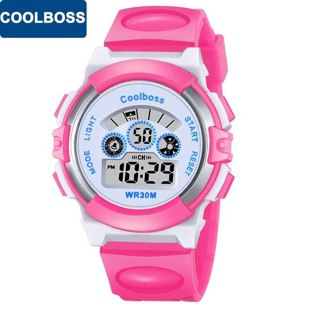 COOLBOSS Brand Children Watch Kids Outdoor Sports Watches Boys LED Digital Wrist