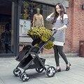 A paisagem Europeia de choque de carro do bebê carro crianças para o inverno e no verão pode mudar a direção do carrinho de bebê
