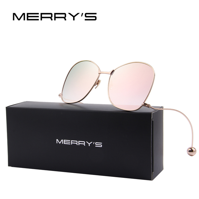 Mujeres de la manera de la personalidad exagerada merry's mujeres gafas de protección uv400 gafas de sol lente transparente s'8066