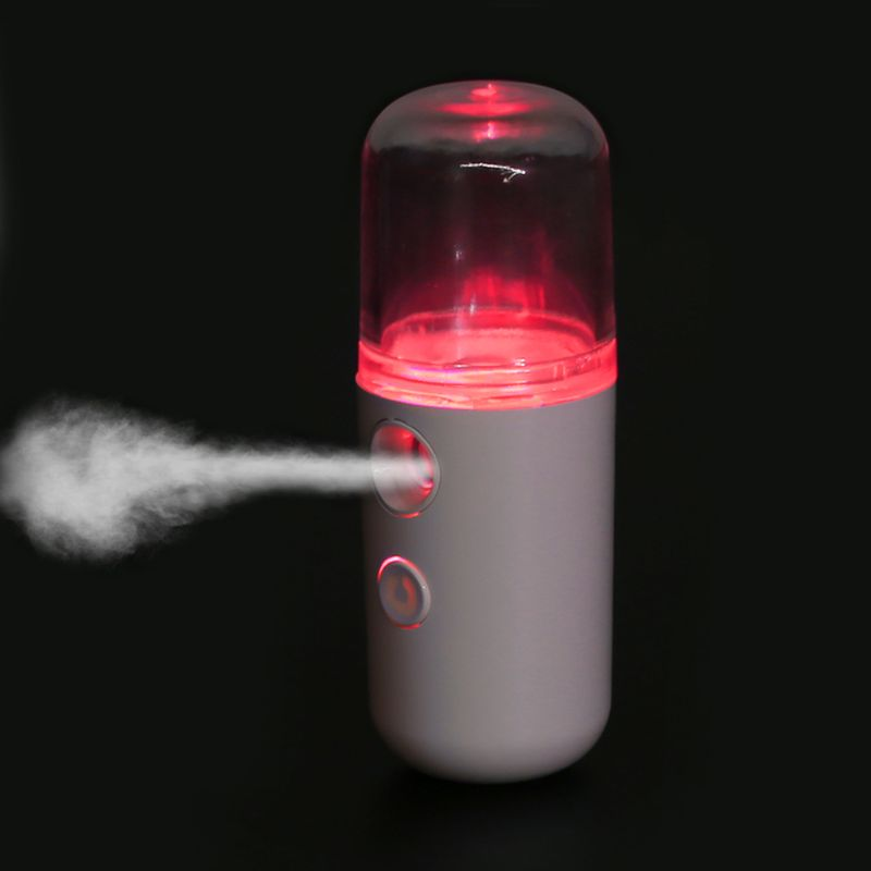 Facial Moisturizing Beauty Instrument Portable USB Charging Nano Mister Humidifier Cooling Mist Spray Mini Face Humidifier Handy(China)