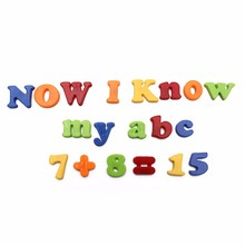 78Pcs  Kid Learning Educational Toy Magnet Letters Plastic Colorful Magnetic Fridge Magnet Alphabet Letter Number Children Baby colorful a z 26 alphabet letter wooden fridge magnet toy