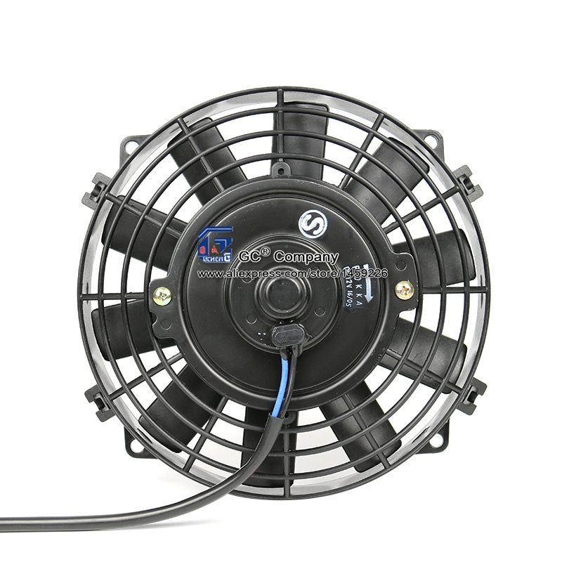Universal 8 Inch Fan Slim Electric Radiator Cooling Fan 12V 24V for A/C AC Street / Rat / Hot Rod Classic Muscle Car Condenser майка versace versace versace 37698294we