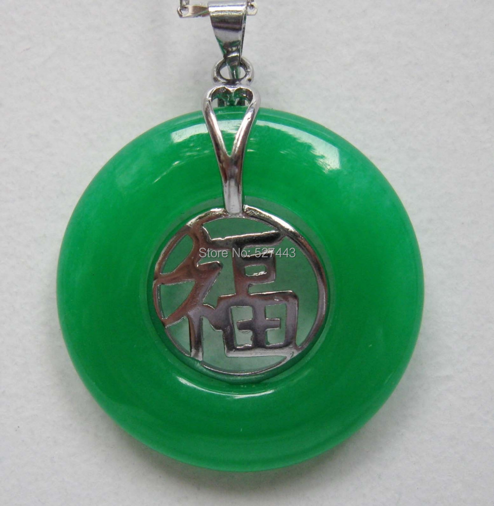 Online buy wholesale men jade from china men jade wholesalers wholesalelan021 jewellery women men necklace pendants inlaid green stone fu aloadofball Choice Image