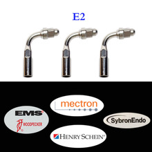 3 pieces/lot Dental Ultrasonic Scaler Tip E2 Compatible with Woodpecker, EMS, Mectron