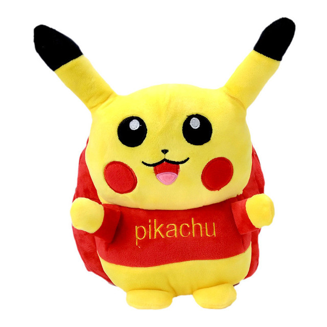 Anime Pokemon Pocket Monster Pikachu Cute Backpack Boy School Laptop