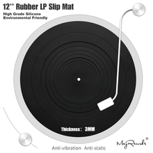 12 LP Anti vibration Silicone Pad Rubber LP Slip Mat for Phonograph Turntable Vinyl Thickness 3MM Flat Soft LP Mat