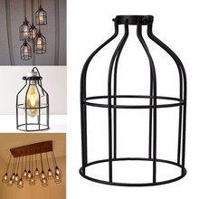 Buy metal lamp shades and get free shipping on aliexpress modern industrial lampshade wire iron light led bulb cage metal guard e27 base edison greentooth Choice Image