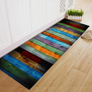 Carpet Doormat Floor-Mat Kitchen-Mat Anti-Slip Striped-Pattern Porch Soft-Flannel Toilet-Rug