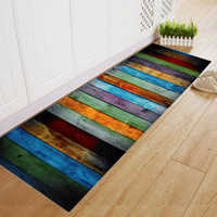 Soft Flannel Striped Pattern Doormat Floor Mat Anti-slip Carpet Kitchen Mat Door Mat Kitchen Carpet Toilet Rug Porch Doormat