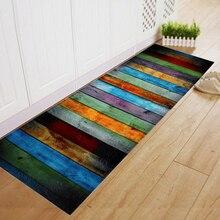 Tapete listrado de flanela macia, tapete antiderrapante para cozinha, banheiro e cozinha tapete da porta