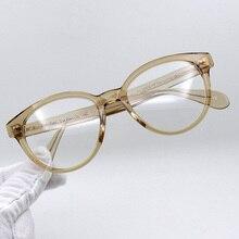 Brand Round Optical Glasses Frames Men Acetate Vintage Retro Clear Lens Eyeglasses Women Spectacles Eyewear Gafas