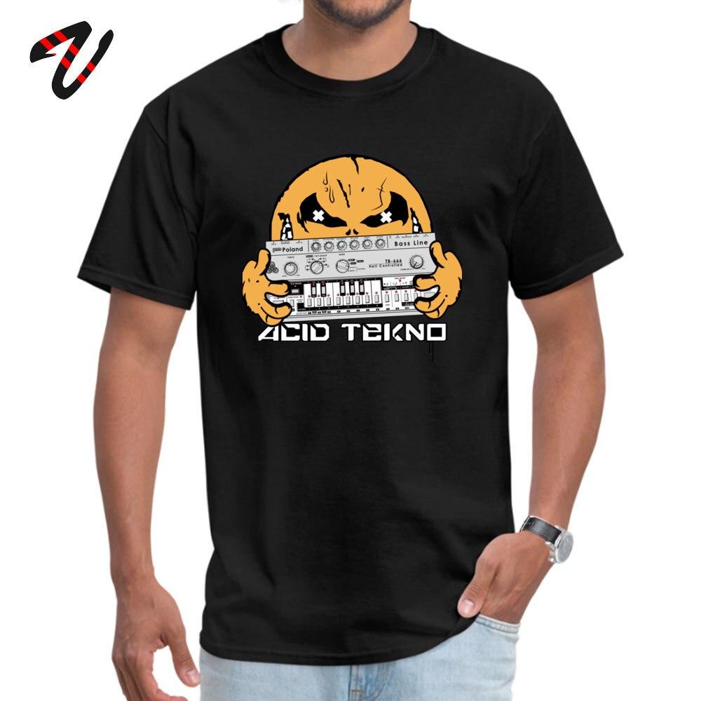 Fashion Men Tees acid tekno Casual T Shirts All Cotton Short Sleeve Design Tee Shirts Crew Neck Free Shipping acid tekno -3319 black