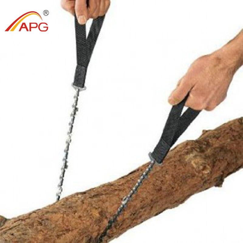 APG 65 cm Outdoor Survival Tasche Kettensäge und Camping Gartenarbeit Hand Kettensäge