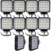 10pcs 4INCH 48W LED WORK WORKING DRIVE DRIVING LIGHT LAMP Epistar For OFFROAD 24V 4WD BOAT