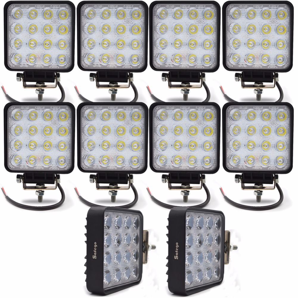 10pcs 4INCH 48W LED WORK WORKING DRIVE DRIVING LIGHT LAMPADA DI LUCE Epistar per OFFROAD 24V 4WD BOAT SUV TRUCK TRAILK 48W Work Light