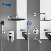 Frap Large Rainfall Shower Faucet Shower Head Bath Shower Mixers with Handshower Polished Wall Mount Shower Arm Y24010/Y24011
