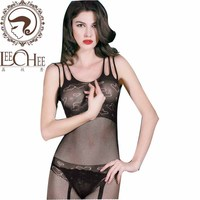 Leechee Y049 women sexy bow underwear transparent hollow out lingerie plus size stockings