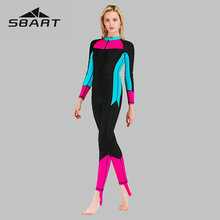 Sbart Splice Women Wetsuit Full Body Long Sleeve Sport One Piece Suit Zipper Diving Sun Protection New 2019 Swimming