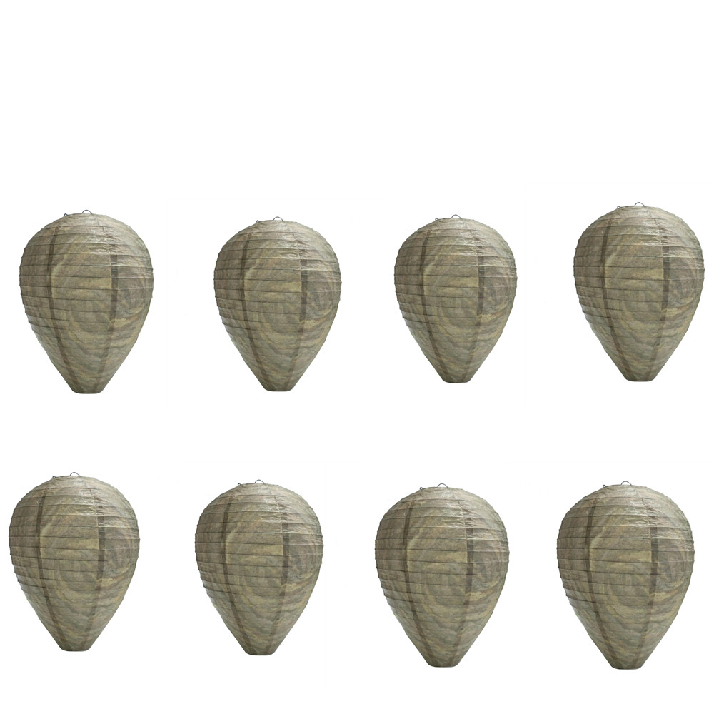 8Pcs Pest Control Products Traps Wasp Deterrent Yellowjackets Bee Hornets Fake Wasp Nest Simulated Deterrent#5