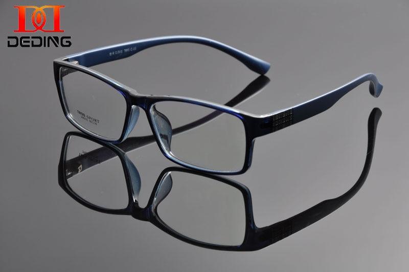Deding Men Comfortable Super Large Wide Oversized Full Frame Rectangular Clear Lens Glasses Frame Anteojos De Hombres Dd1100