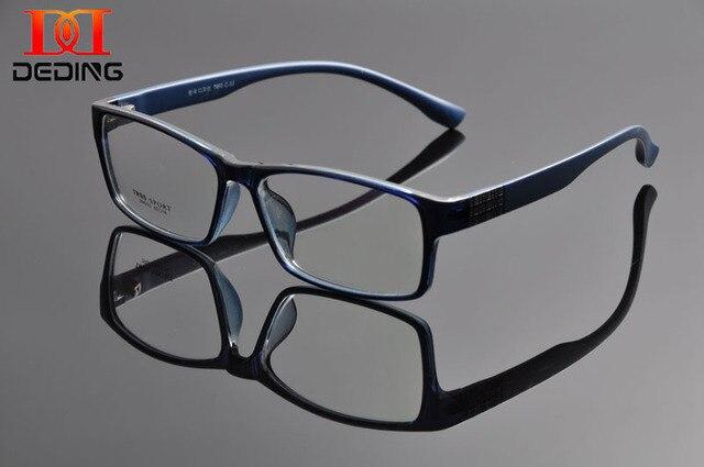 Deding мужчин супер-большой широкий негабаритных полный кадр прямоугольные прозрачные линзы очки кадр Size60-18-148mm anteojos де де-лос-hombres DD1100