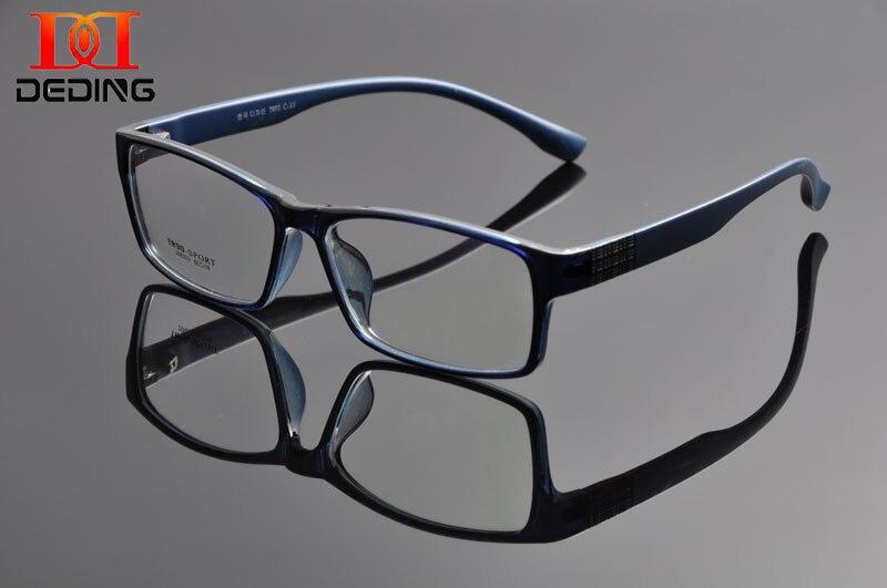 Deding men super grande grande grande armação completa de grandes dimensões retangular lente clara óculos quadro Size60-18-148mm anteojos de hombres dd1100