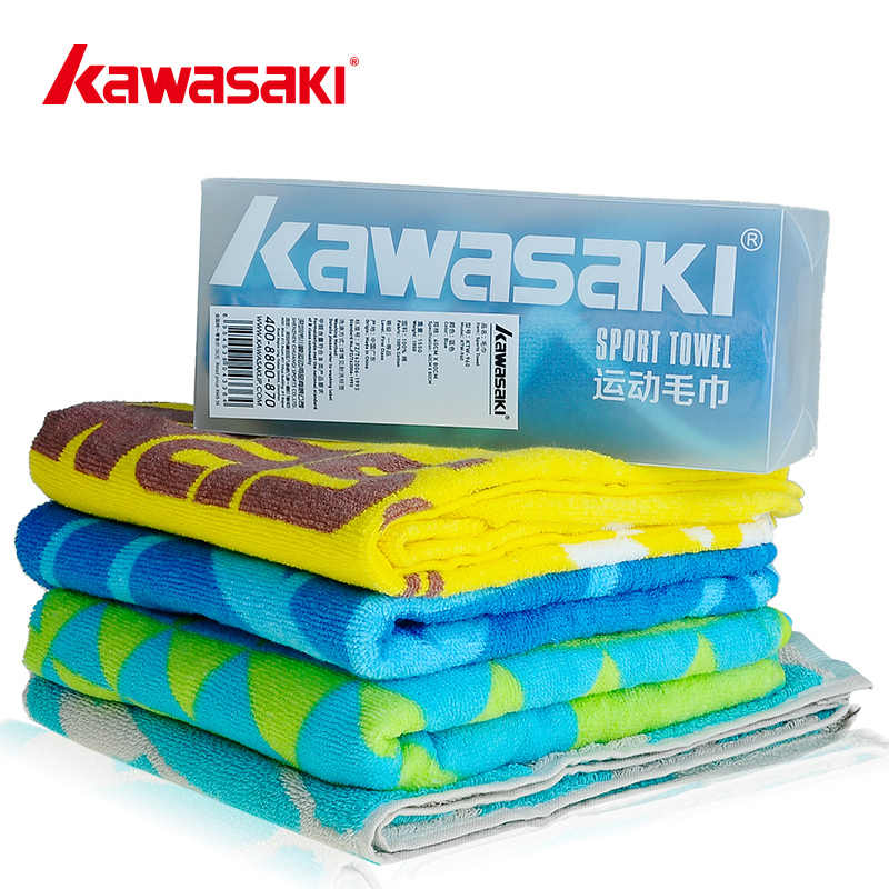 Kawasaki Sports Towel Fitness Sweat Speed Dry Badminton washcloth Men And Women 100% Cotton