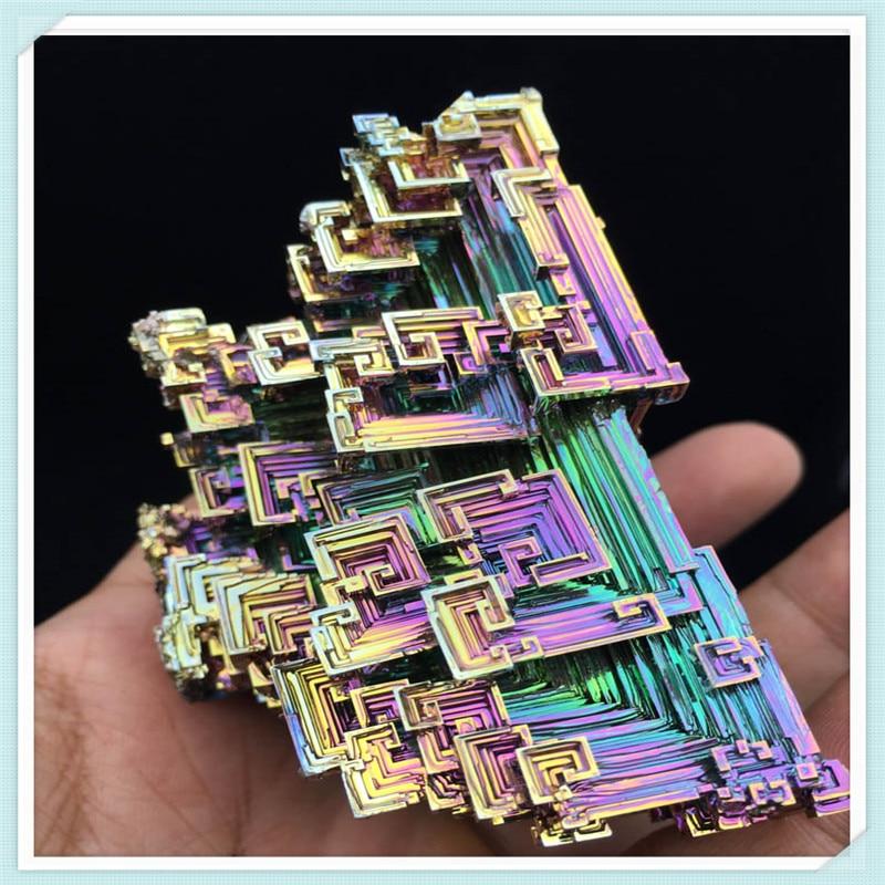 Bismuth Crystals 283g Bismuth Metal crystal bismuth crystals bismuth bi metal crystal rainbow bright metal mineral specimen original nature art artwork decorative article